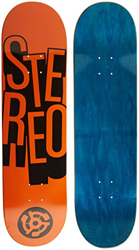 Stereo Skateboards Stacked Skateboard Deck, Orange, 8.5,Color may vary (Upper Deck)