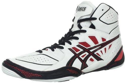 Asics Men's Dan Gable Ultimate 3 Wrestling Shoe,White/Bla...