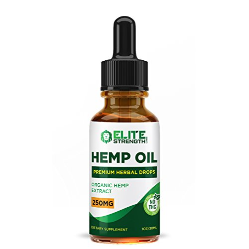 Hemp Oil Drops :: Improved Formula :: Promotes Relaxation and a Sense of Calm:: Encourages Cardiovascular Health:: 30 Day Supply - 30ML Bottle:: Elite Strength Labs by Elite Strength Labs (Image #1)