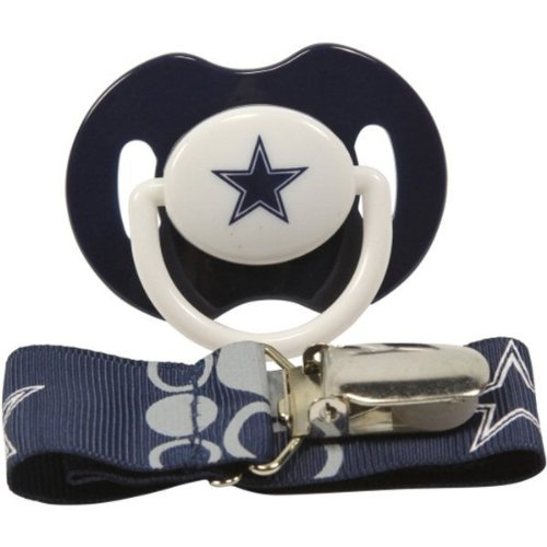 Dallas Cowboys Blue Pacifier Clip