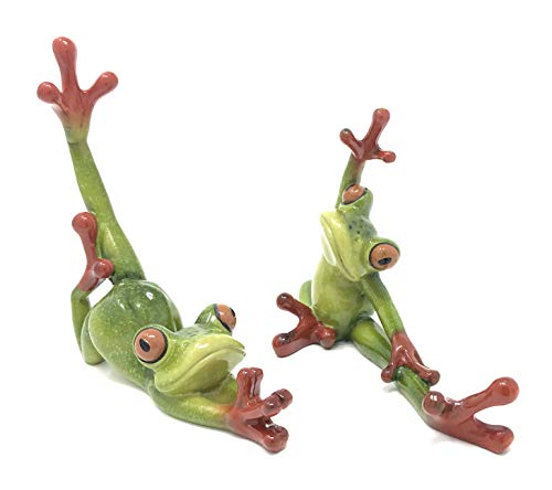 - Green Tree Products Resin Pair of Yoga Frog Figurines, Indoor Outdoor Decor