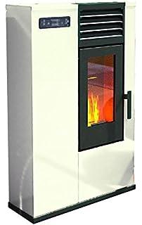 Eva calor – Estufa de pellets Susy Potencia térmica 7.5 KW Color Marfil