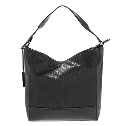 Logo hombro Bolso cm Marina 40 Black Calvin de Klein XwE4T4