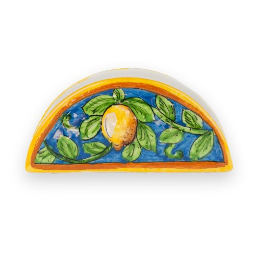 Umbria Hand Painted Limone Napkin Holder from Italy