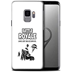 STUFF4 Gel TPU Phone Case/Cover for Samsung Galaxy S9/G960 / Land Loot Build Design/FN Battle Royale Collection