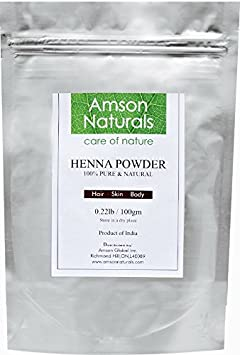 Henna Natural Powder 1 lb (454g) (Mehndi) - 100% Pure & Natural-by Amson Naturals-Conditions, Strengthens, Revitalizes Dry & Dull Hair