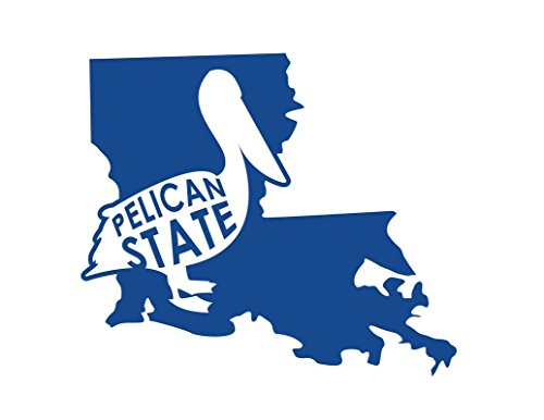 Louisiana Quarters (ND211B Louisiana The Pelican State Decal Sticker | 6.5-Inches By 5.6-Inches | Premium Quality Blue Vinyl)