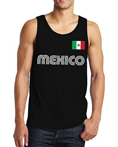 - SpiritForged Apparel Mexico Soccer Jersey Men's Tank Top, Black Large