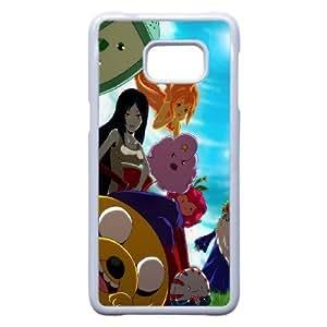 Adventure Time Characters plastic funda Samsung Galaxy S6 Edge Plus cell phone case funda white cell phone case funda cover ALILIZHIA15288