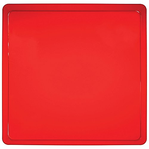 Red Square Platter - Creative Converting 6 Count Trendware Plastic Serving Trays, Translucent Red, Square
