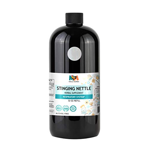 Stinging Nettle Tincture Alcohol-Free Liquid Extract, Organic Stinging Nettle Leaf and Root (Urtica Dioica) (32 FL OZ) by Maui Herbs (Image #2)