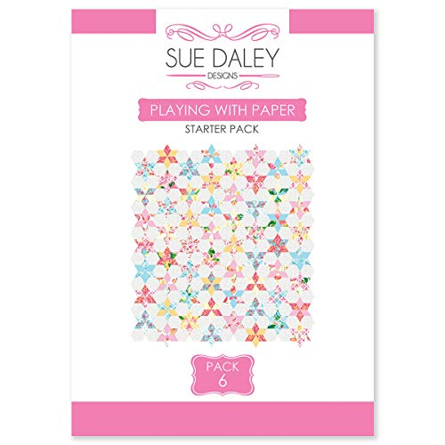 Sue Daley Designs Playing with Paper Starter Pack #6 Pattern Templates and Papers EPP English Paper Piecing Patchwork - Kit Piecing Paper