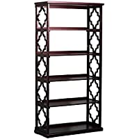 Powell Furniture 14A8082BCE Turner Espresso Bookcase with Shelves