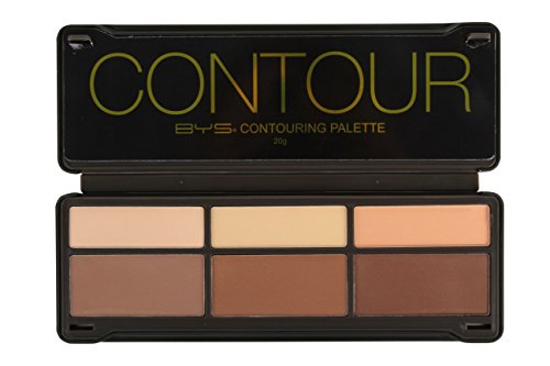 BYS Contour Palette (3x Contouring Powder, 3x Highlighting - What Is Pale Skin Color Best For