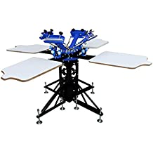 4 Color 4 Station Silk Screen Printing Machine Press DIY T-Shirt Printer