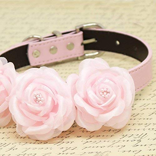 Amazon Pink Floral Wedding Dog Collar Pets Accessory Pink
