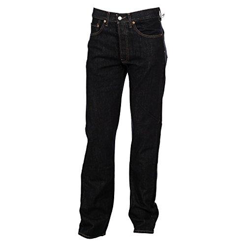 Replay Herren Jeans, Männerjeans M908 Regular Fit, Straight, Black Wash M908-688-07
