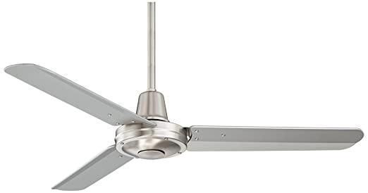 """44"""" Plaza Brushed Nickel Damp Rated Ceiling Fan - - Amazon.com"""