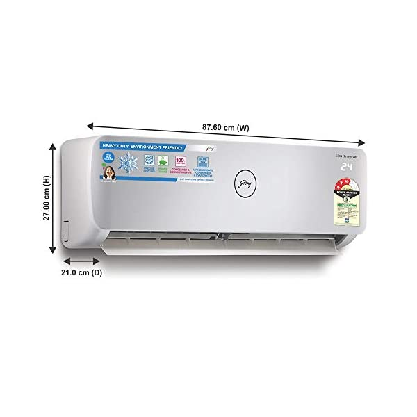 Godrej 1 Ton 3 Star Split AC (Copper, Anti Bacterial Filter, 2020 Model, GSC 12NTC3-WTA, White)