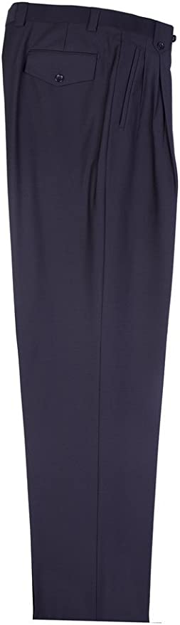 Tiglio Black Wide Leg, Pure Wool Dress Pants
