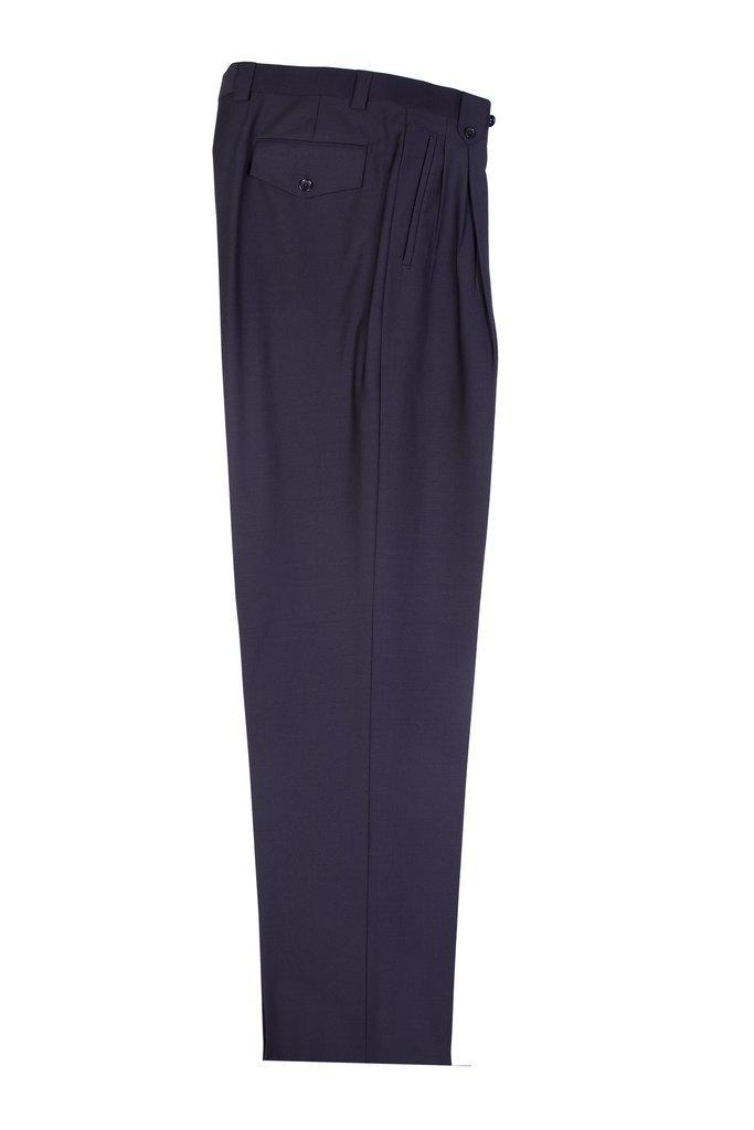 Tiglio Black Wide Leg, Pure Wool Dress Pants TIG1001