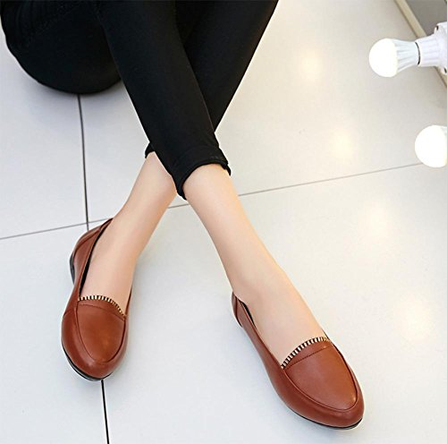 Ms Spring ascensor zapatos de la boca baja pendiente de diamantes con escoge los zapatos zapatos zapatos de tacón bajo los zapatos del pie redondo establece , US6 / EU36 / UK4 / CN36