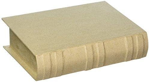 Mache Paper Crafts - Bulk Buy: Darice DIY Crafts Paper Mache Book Box 7-3/4 x 5-1/2 x 1-3/4 in (2-Pack) 2824-74FCAM