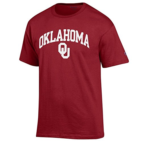Elite Fan Oklahoma Sooners Men's Short Sleeve Arch Tee Shirt, Cardinal, X Large