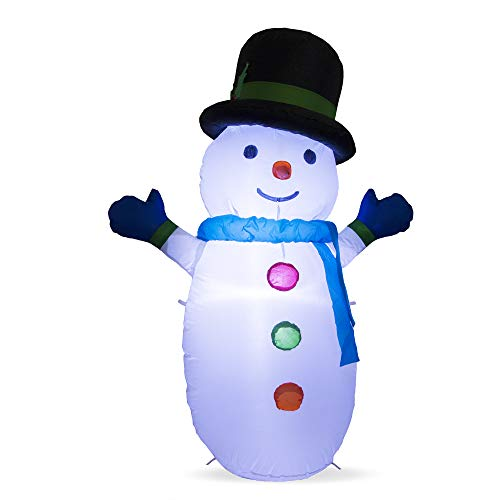 DAMGOO 4 Ft Christmas Inflatable Snowman Decoration Lighted Xmas Decorations Inflatables for Lawn Garden Home Indoors Outdoors Day Night