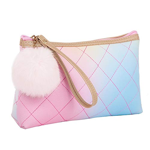 Reme Makeup Bag Toiletry Pouch Travel Cosmetic Storage Organizer (Pink)