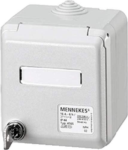 Caja para empotrar 4162 mennekes pared 16 A, 3 P, 6 horas, 230 V ...