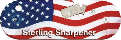 Sterling Knives USA Compact Knife Sharpener with USA Flag Finish Lightweight ... ()