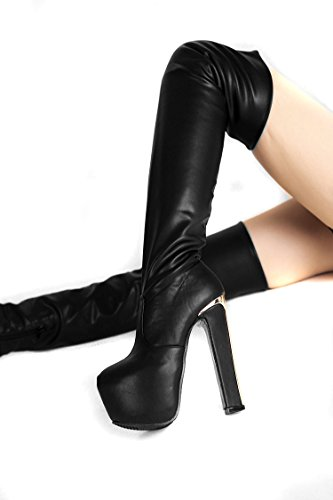 Fashion shoes knee high boots 16 cm heels xnLlF5ujL