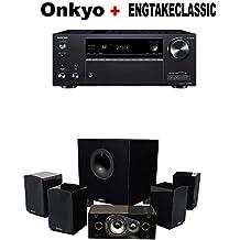 Onkyo TX-NR686 Receiver + Energy 5.1 Take Classic Home Entertainment System (Set of Six, Black) Bundle