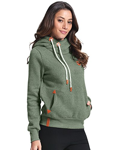 ZANZEA+Ladies+Autumn+Hoodie+Sweatshirts+Long+Sleeve+Pockets+Slim+Tops+Blouse+Green+8