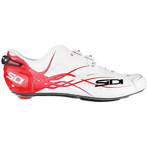 ハンディキャップ慎重におとなしい(シディ) Sidi Shot Vent Carbon Cycling Shoe メンズ ロードバイクシューズWhite/Red [並行輸入品]