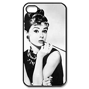 Popular Audrey Hepburn Pretty And Popular iPhone 4,4S Case Hard iPhone Cover Case Personalized portrait customized cover back shell creative gift ultra-thin best Quality Limited Edition by iStyle by runtopwell