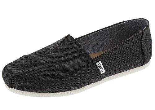 Toms Tom - Women Slip-On Shoes, Size: 6 B(M) US, Color Black Polycanvas by TOMS