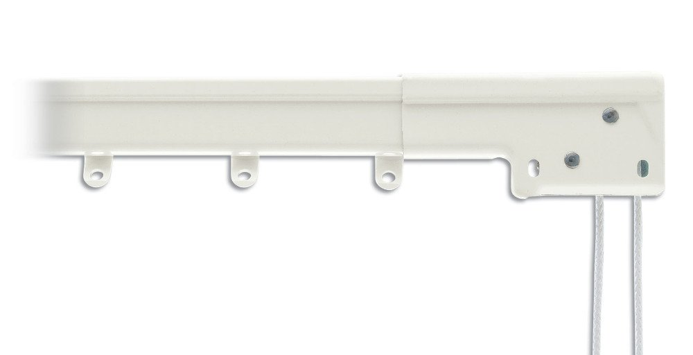 Graber 超高耐久性横断カーテンロッド、ホワイト(中心仕切り)、幅調整可能で利用可 120 to 228 inches 0-6052-1 120 to 228 inches B00DDYOJNE
