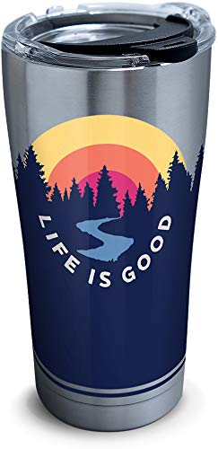 Tervis 1302578 Life is Good - Outdoor Scene Stainless Steel Insulated Tumbler, 20 oz, Silver (Steel Stainless Life)