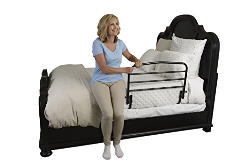 "Stander 30"" Safety Adult Bed Rail - Home Elderly Bedside Safety Rail + Swing Down Assist Handle"