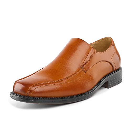 Bruno Marc Men's State-01 Brown Leather Lined Dress Loafers Shoes - 12 M US