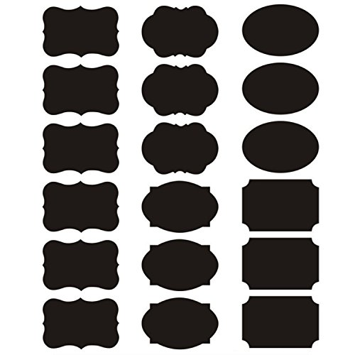 AxeSickle Waterproof 180 Piece - Small Labels Reusable Adhesive Chalkboard Stickers,Home Kitchen,Office School can - Glasses On Scratches Small
