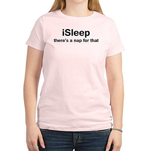 CafePress - isleep Women's Light T-Shirt - Womens Cotton T-Shirt, Crew Neck, Comfortable & Soft Classic Tee -