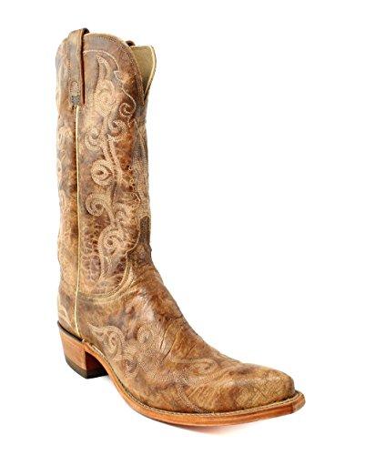 Lucchese N4689.s33 Dames Pecan Maanleder Cowboy Westernlaarzen