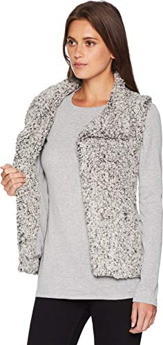 b3e135e54e9 Dylan by True Grit Women's Frosty Tipped Pile Cozy Vest with Knit Lining  Putty X-Large