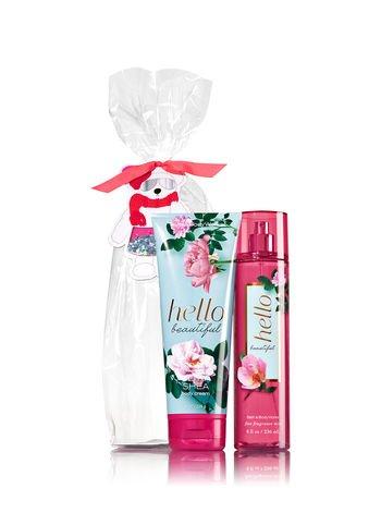 Bath & Body Works HELLO BEAUTIFUL Mr. Sparkle Pants Gift Set - Body mist and Body Cream Full Size