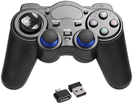 KEHUITONG 2.4GHzワイヤレスゲームパッドジョイパッドコントローラーのハンドルゲームパッドジョイスティックでOTGコンバータ用のWindowsの8/7 / XP用のAndroid 2.3
