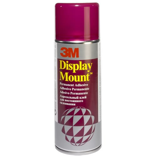 DisplayMount GS200034899 3M Spray Adhesive - Permanent - 400ml-Clear B000NJZXHS