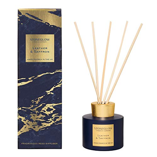 (Stoneglow Reed Diffuser Luna Collection Leather & Saffron 120ml)